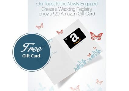 Amazon Gift Card Registry - free 20 amazon gift card with wedding registry