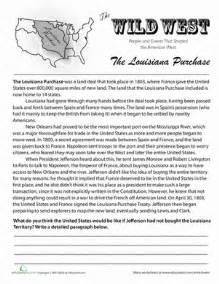 history of the louisiana purchase worksheet education com