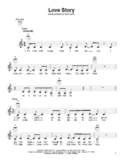 taylor swift chords love story piano love story sheet music direct