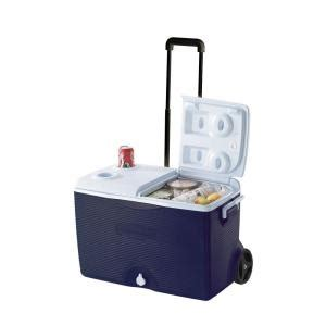 rubbermaid 60 qt wheeled cooler fg2a9002modbl the home