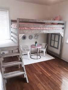 bed for room white loft bed i made for my daughters room my decor