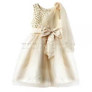robe de mariã e pour enfant enfant fille b 233 b 233 princesse robe tenue de soir 233 e mariage ceremonie bapteme beige ebay