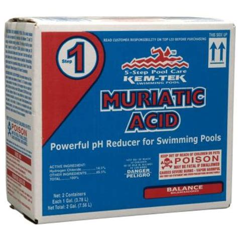 kem tek 1 gal swimming pool muriatic acid 2 pack