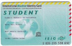 isic card template isic card