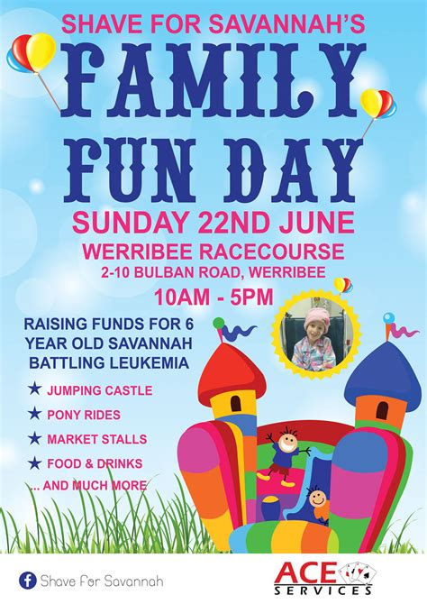 poster design fun day shave for savannah s family fun day poster on behance