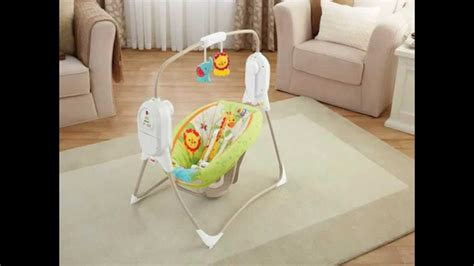 fold up baby swing fisher price rainforest portable baby swing review youtube