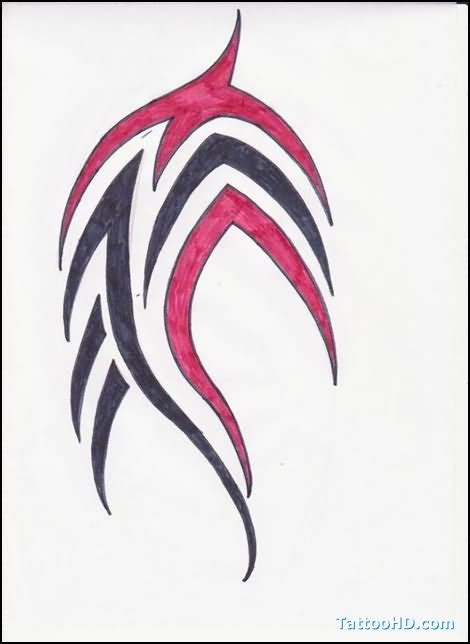 red and black tribal tattoo tribal images designs