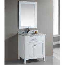 30 inch single sink white bathroom vanity set