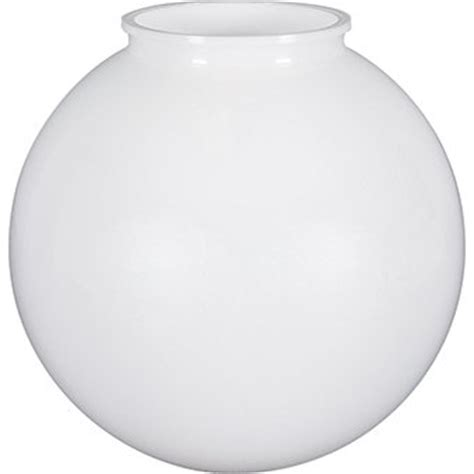 acrylic globe light fixture 6 inch white by american de