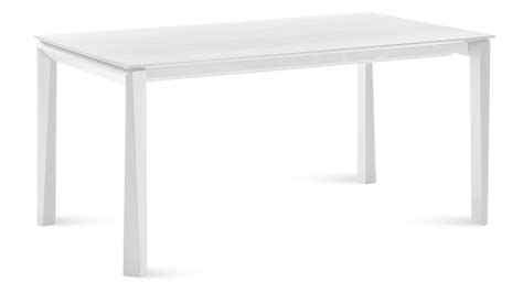 White Table by Extendable Rectangular White Matte Lacquer Cortona Dining