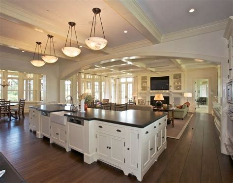 open house plans with large kitchens best 25 open floor plans ideas on open floor