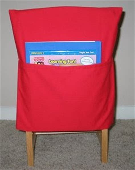 pattern for kindergarten chair pockets stitched by janay chair packs for preschool