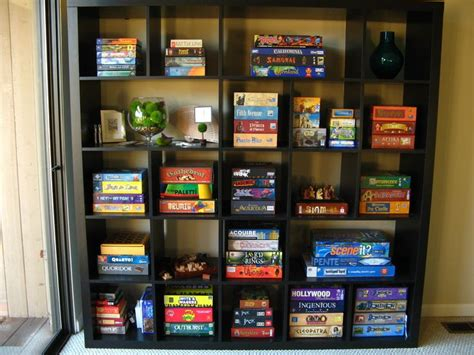 game storage ideas 51 best images about boardgame room and tables on