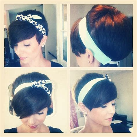 hairstyles using hairbands for older women pixie and a headband haircut love and sayings