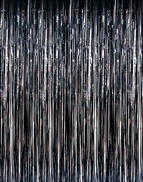 2pcs Lot 1mx2m Black Foil Tinsel Metallic Door Curtains