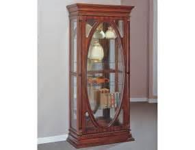 Becka antique curio display cabinet
