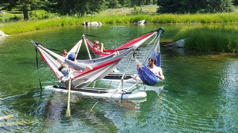 boat drinks genius some genius invented a hammock that floats on water