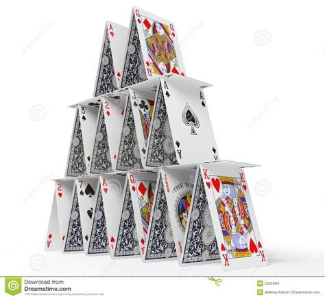 card house the card house stock images image 2502484
