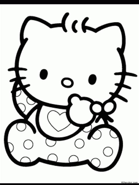 coloring pages hello kitty baby free printable hello kitty coloring pages coloring home