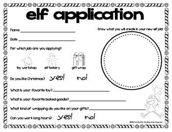 printable elf application christmas elf application freebie by kindergarten squared