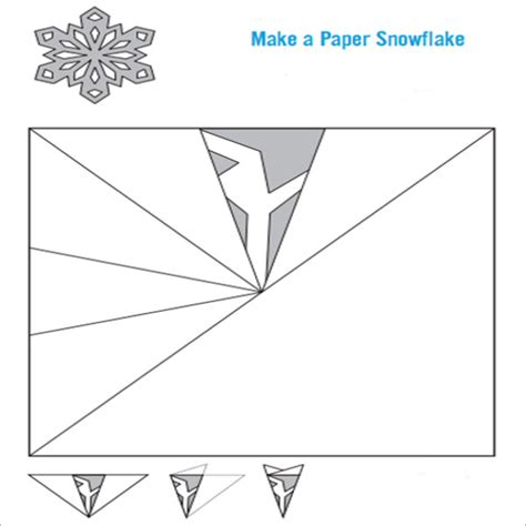 How Do U Make A Snowflake Out Of Paper - snowflake template 7 free pdf