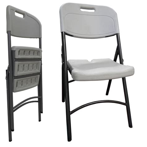 4 x folding plastic chairs heavy duty chair garden bistro