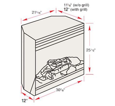 electric fireplace insert sizes ebay