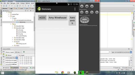 tutorial en android studio android studio tutorial espa 241 ol 1 3 botones eventos y