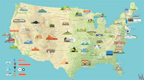 high resolution usa map high quality tourist attraction map of the usa whatsanswer