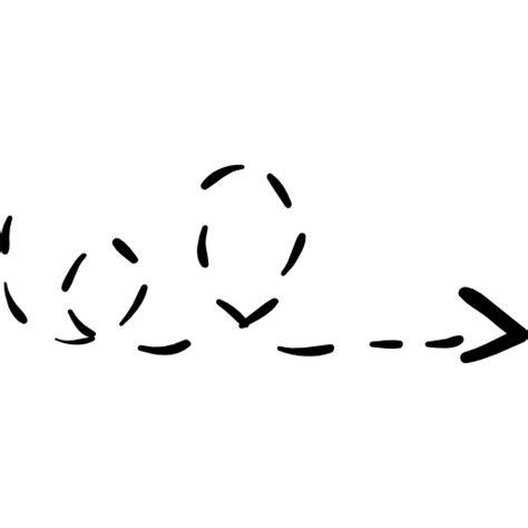 Broken Line scribble broken line free arrows icons