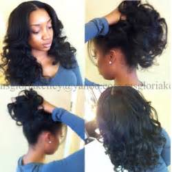 hair do with sew in weave with a part in the middle versatile sew in black women hairstyles sew ins