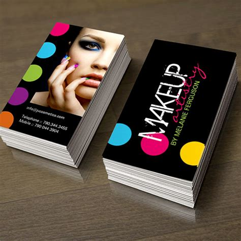 makeup artist name card template bold and hip makeup artist business card