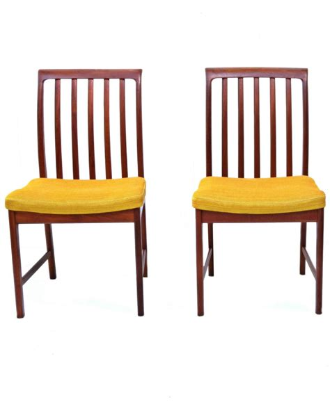 Teak Dining Room Furniture Six Modern Folke Ohlsson Dux Teak Dining Room Chairs For Sale At 1stdibs