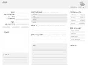 user personas template our free persona template