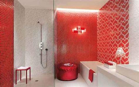 model keramik kamar mandi warna merah cat rumah minimalis