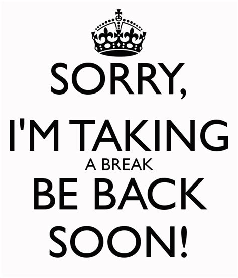 on break sign for desk tania johnson st haven