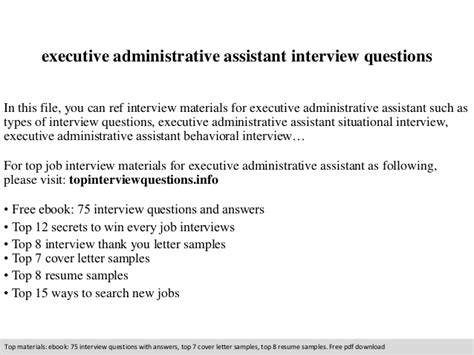 executive administrative assistant questions