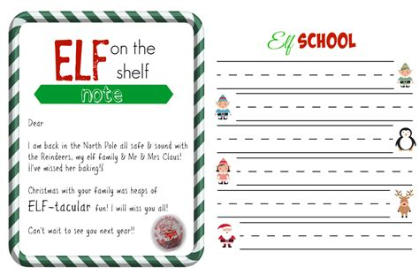 free printable elf on the shelf template christmas free elf on a shelf printables super busy mum