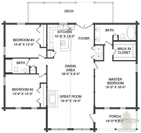 southland floor plan wateree i log home plan by southland log homes