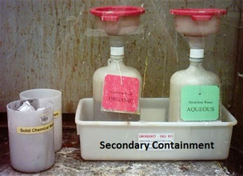 secondary containers for chemical storage waste disposal