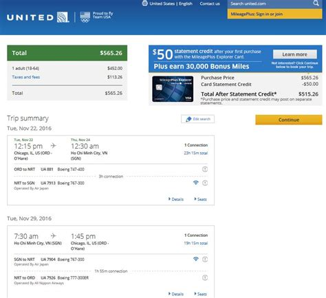 united airlines booking 566 576 chicago to vietnam philippines r t fly