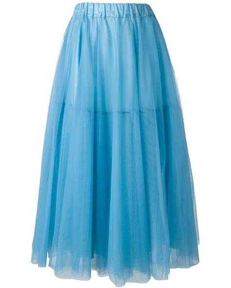 p a r o s h tulle skirt in blue save 31 lyst