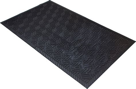 Rubber Mat by Superscrape Drainable Rubber Outdoor Entrance Floor Mat
