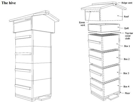 Top Bar Hive Plans Pdf by 10 Free Langstroth And Warre Or Top Bar Beehive Plans