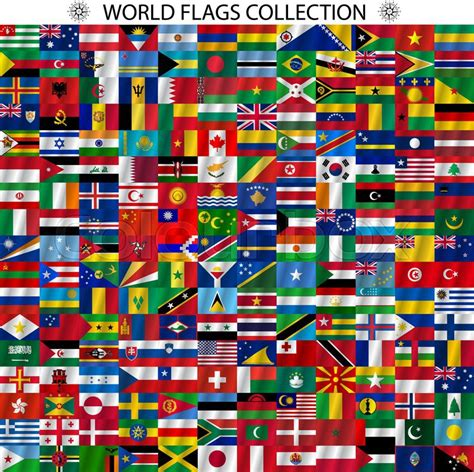 flags of the world wallpaper flags of the world and map on white background vector
