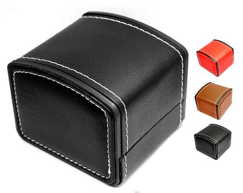 New Luxury Watch Box Display Case Genuine Leather Watch Box with Pillow Watch Packaging
