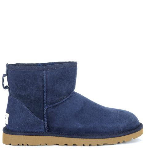 boots blue ugg mini classic blue navy boots in blue lyst