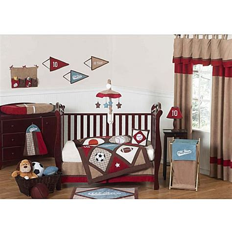 Sweet Jojo Designs All Star Sports Crib Bedding Collection Crib Sports Bedding