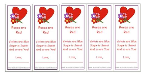 printable bookmarks valentine s day printable valentine bookmarks for kids