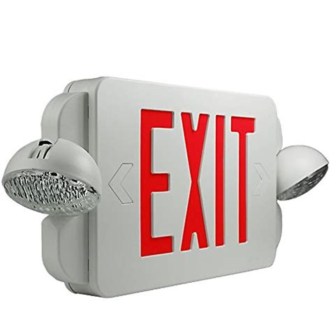 exit emergency light combo etoplighting 2 packs of led exit sign emergency light